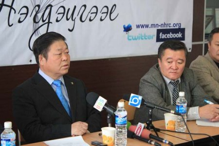 """Human Rights Open Day"", outreach campaign organized in Umnugobi Province from Sep 21 to Sep 23, 2011."