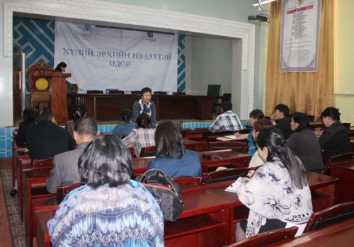 Human rights open day in Bayanhongor aimag 2013.06.03-07