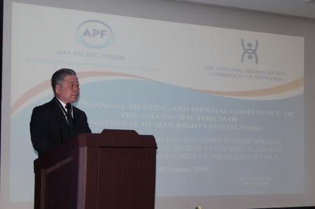 Монгол Улсын ХЭҮК-ын дарга Ж.Бямбадоржийг Ази Номхон Далайн Хүний эрхийн Үндэсний Байгууллагуудын Чуулганы даргаар сонголоо